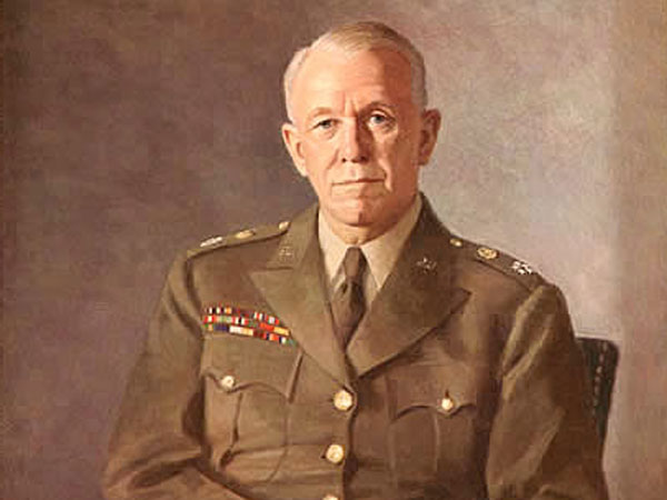 Painting of George C. Marshall in Uniform